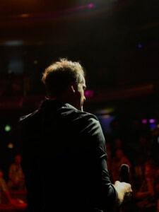 Marc Gettmann auf der Bühne