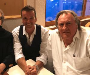 Marc Gettmann mit Gerard Depardieu