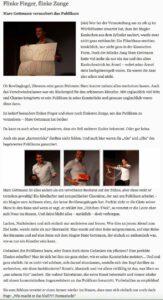 Zeitungsartikel: Marc Gettmann verzaubert das Publikum